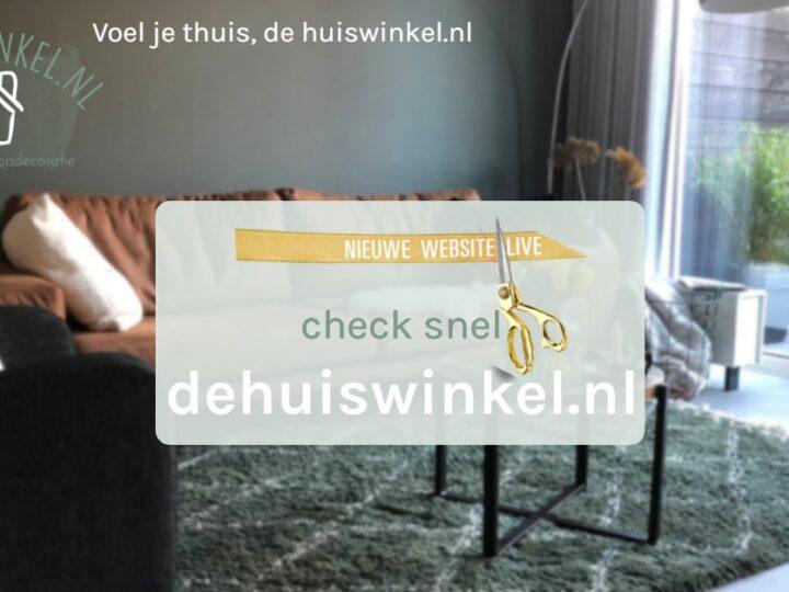 Nieuwe website dehuiswinkel.nl